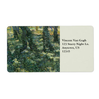 Undergrowth by Vincent Van Gogh Shipping Label