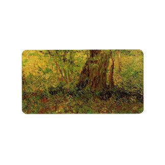 Undergrowth by Vincent van Gogh Address Label