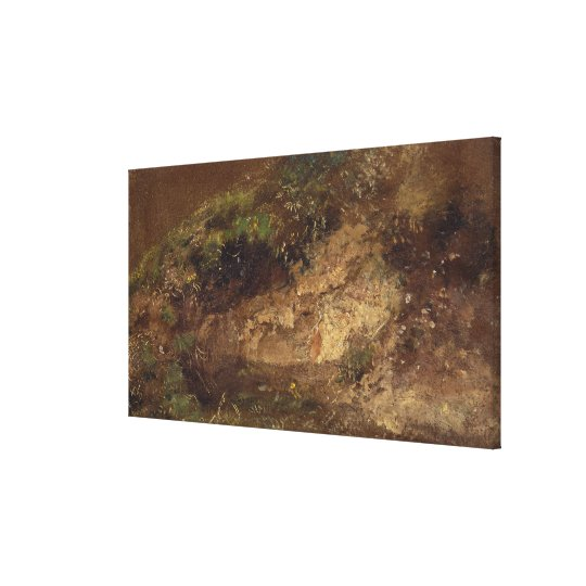 Undergrowth, c.1821 (oil on paper on board) canvas print