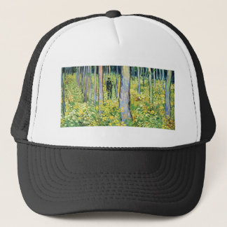 Undergrowth with a Couple - Vincent Van Gogh Trucker Hat