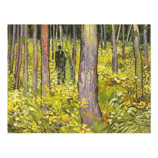 Undergrowth with Two Figures Van Gogh Fine Art Postcard