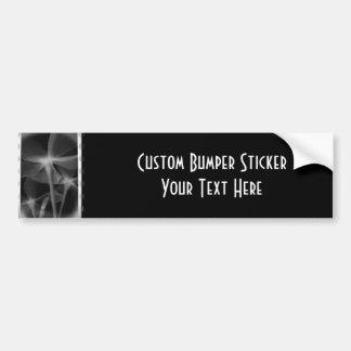Underneath Flowers - Infrared B&W Negative Car Bumper Sticker