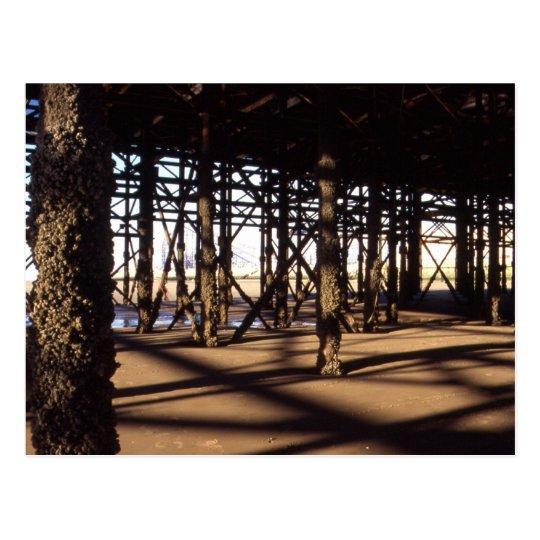 Underneath South Pier, Blackpool Postcard