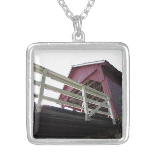 Underneath the Covered Bridge Silver Plated Necklace