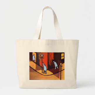 UNDERNEATH THE LAMPLIGHT LARGE TOTE BAG