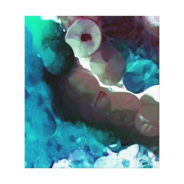 lauriekentdesigns Underneath The Sea Abstract Canvas Print