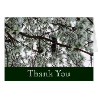Underneath the Snow Covered Pine Thank You Card
