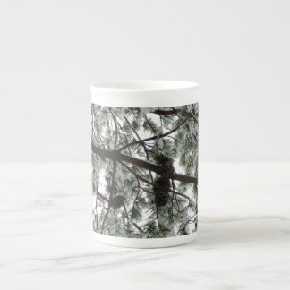 Underneath the Snow Covered Pine Tree Winter Photo Tea Cup