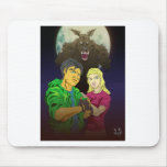 Underneth the Full Moon Mouse Pad