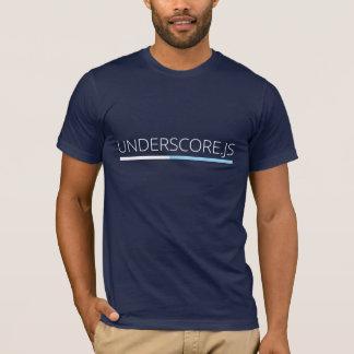 Underscore JS T-shirt (Navy)