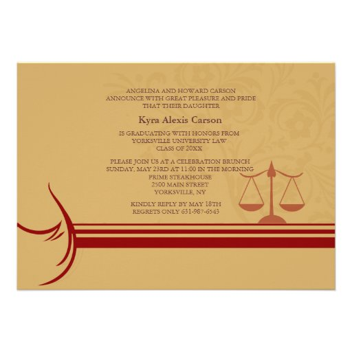 Underscore Law School Graduation Announcement/ Inv