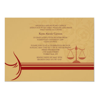 Underscore Law School Graduation Announcement/ Inv 5x7 Paper Invitation Card