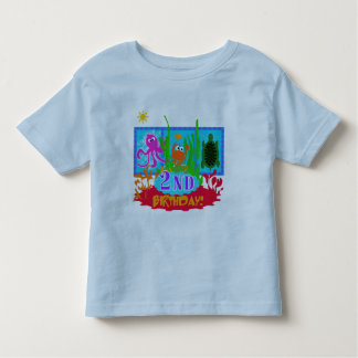 Undersea 2nd Birthday T-shirts and gifts