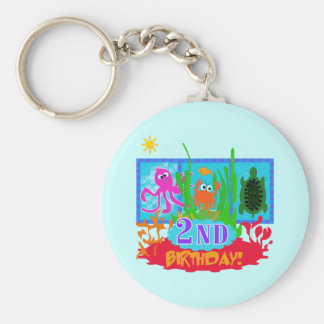 Undersea 2nd Birthday T-shirts and gifts Keychain