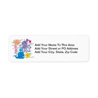 Undersea Adventure Custom Return Address Labels