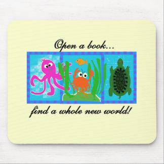 Undersea Adventure Open a Book Mouse Pad