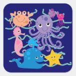Undersea Adventure Square Sticker