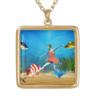 Undersea Ballet Gold Plated Necklace
