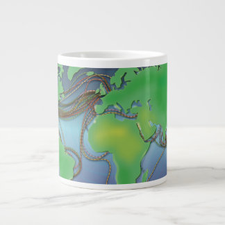 UnderSea Communication wires Large Coffee Mug