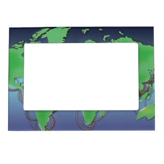 UnderSea Communication wires Magnetic Picture Frame