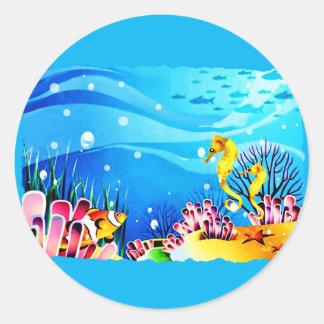 Undersea Coral, Fish & Seahorses Stickers