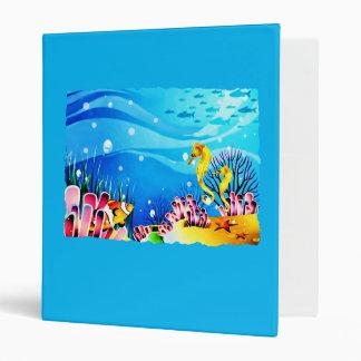 Undersea Coral, Fish & Seahorses Vinyl Binder