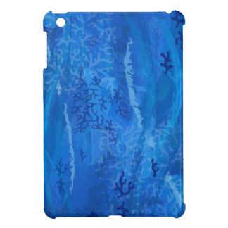 Undersea Coral Pattern Blue Colors Background iPad Mini Covers