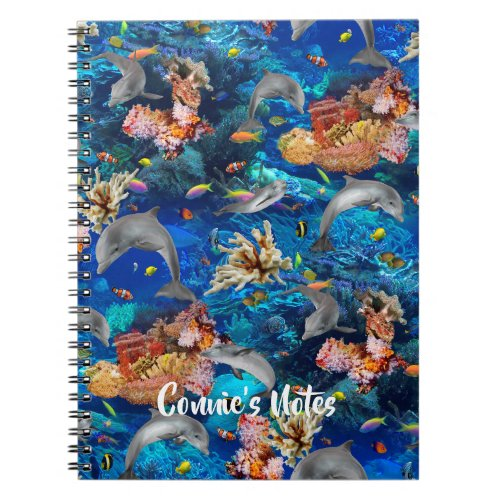 Undersea Dolphins Coral Reef Writing Journal