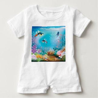 Undersea Life Baby Romper
