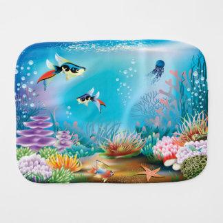 Undersea Life Burp Cloth