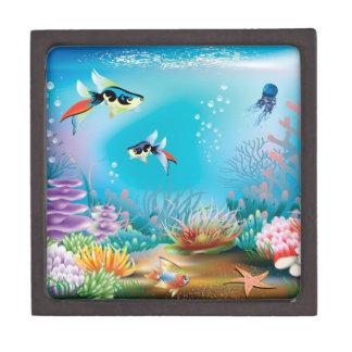 Undersea Life Jewelry Box