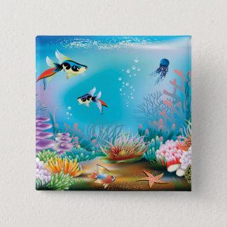 Undersea Life Pinback Button