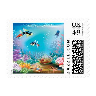 Undersea Life Postage Stamp