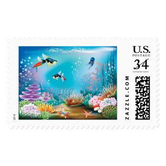 Undersea Life Stamp