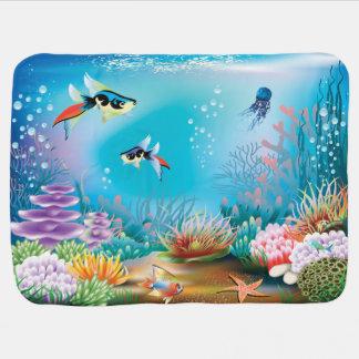 Undersea Life Swaddle Blanket