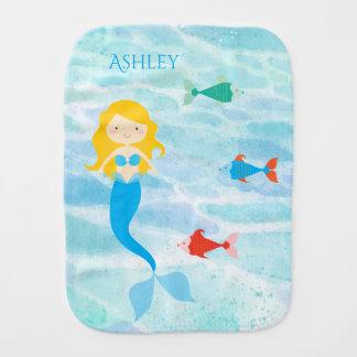 Undersea Mermaid Baby Burp Cloth