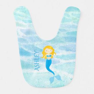 Undersea Mermaid Personalized Baby Bib