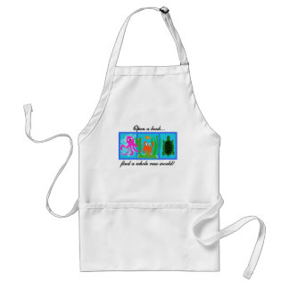 Undersea Open a Book Tshirts and Gifts Adult Apron