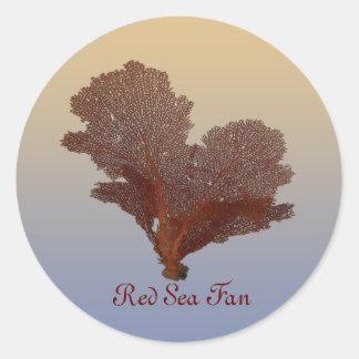 Undersea Red Sea Fan Vintage Style Stickers