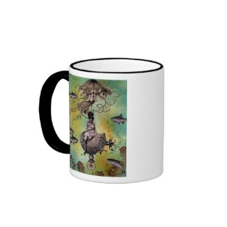 Undersea Steampunk Jellyfish mug