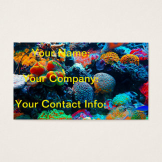 Undersea Tropical Coral Reef Business Card