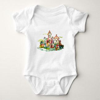 Undersea Village Baby Bodysuit