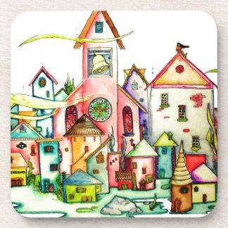 Undersea Village Drink Coasters