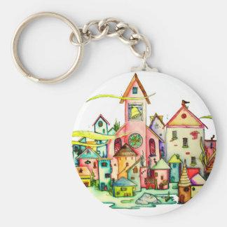 Undersea Village Keychain