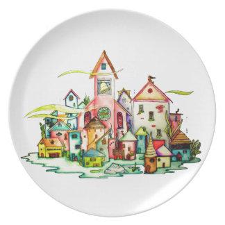 Undersea Village Plates