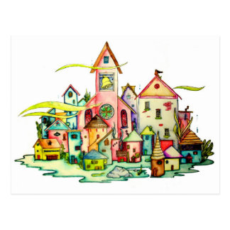Undersea Village Postcard