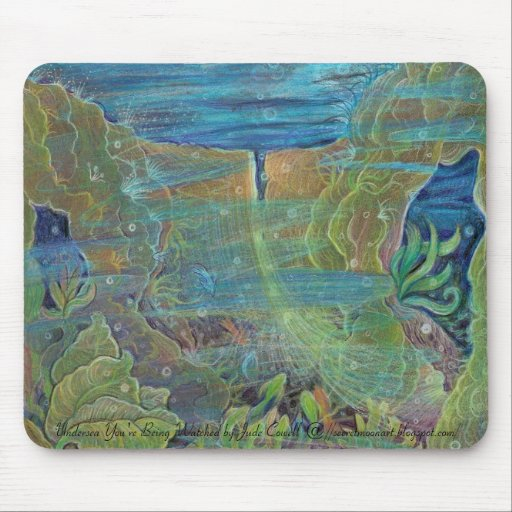 'Undersea You're Being Watched' mousepad