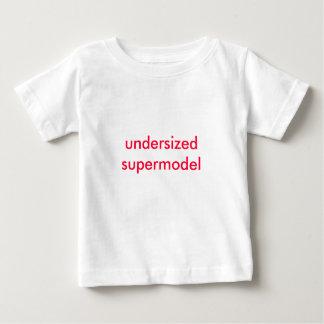 undersized supermodel infant t-shirt