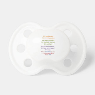 Understanding our Human Nature Baby Pacifiers