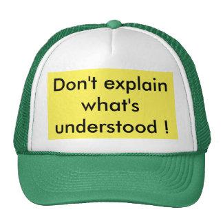 understanding trucker hat